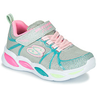 Shoes Girl Low top trainers Skechers SHIMMER BEAMS Silver / Pink / Blue