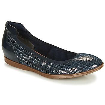 Shoes Women Flat shoes Tamaris  Marine / Silver