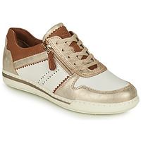 Shoes Women Low top trainers Tamaris FREYA White / Gold / Brown