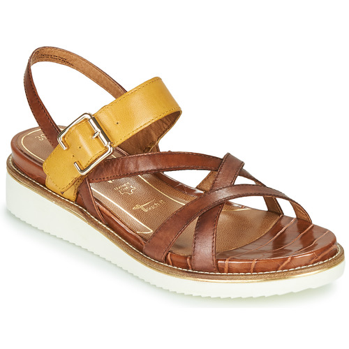 Shoes Women Sandals Tamaris EDA Brown / Yellow