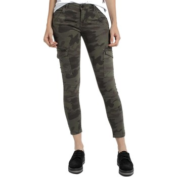 Clothing Women Cargo trousers Lois Pantalon Camouflage Newcargo 948 Green