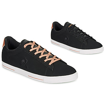 Shoes Women Low top trainers Le Coq Sportif AGATE METALLIC Black / Gold