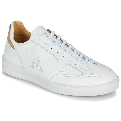Shoes Men Low top trainers Le Coq Sportif TRIOMPHE White / Cognac