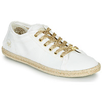 Shoes Women Low top trainers Le Temps des Cerises BASIC BEACH White / Gold