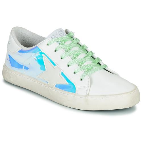 Shoes Women Low top trainers Le Temps des Cerises CITY Silver