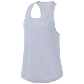 Clothing Women Tops / Sleeveless T-shirts Reebok Sport US Perform Mesh Tank White