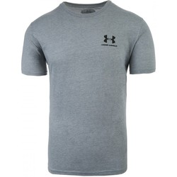 Clothing Men short-sleeved t-shirts Under Armour Sportstyle Left Chest Grey
