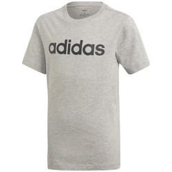 Clothing Children short-sleeved t-shirts adidas Originals JR Essentials Linear Grey
