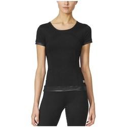 Clothing Women Short-sleeved t-shirts adidas Originals Stella Mccartney The Pref Tee Black