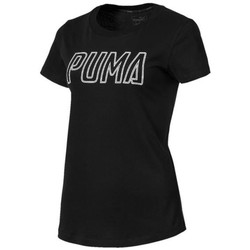 Clothing Women Short-sleeved t-shirts Puma Athletics Logo Black