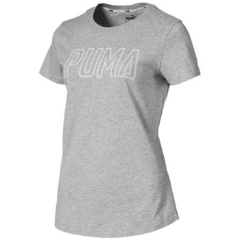 Clothing Women Short-sleeved t-shirts Puma Athletics Logo Grey