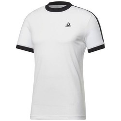 Clothing Men short-sleeved t-shirts Reebok Sport Training Essentials Linear Logo Tee White