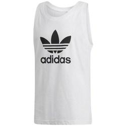 Clothing Men Tops / Sleeveless T-shirts adidas Originals Trefoil Tank White