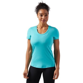 Clothing Women Short-sleeved t-shirts Reebok Sport Wor SW Tee Turquoise