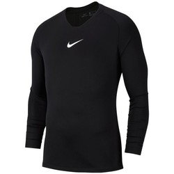 Clothing Men Long sleeved tee-shirts Nike Dry Park First Layer Black