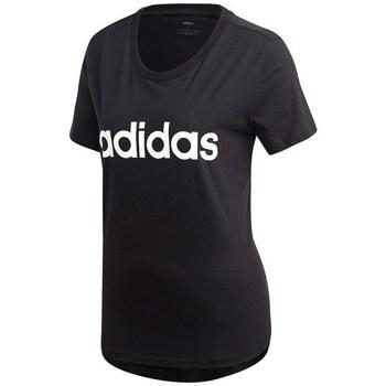 Clothing Women Short-sleeved t-shirts adidas Originals Essentials Linear Slim Black