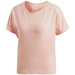 Clothing Women Short-sleeved t-shirts adidas Originals Ess Allcap Tee Pink