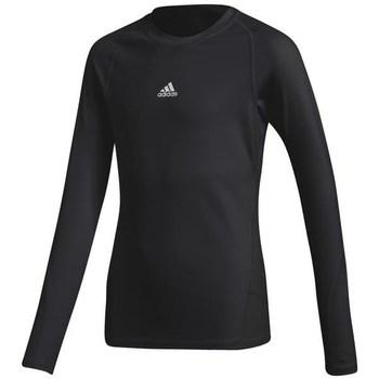 Clothing Girl Long sleeved tee-shirts adidas Originals Alphaskin Y Black