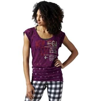 Clothing Women Short-sleeved t-shirts Reebok Sport Yoga New York Violet