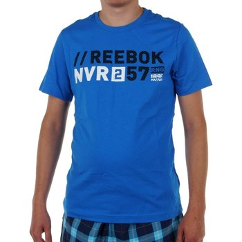 Clothing Men short-sleeved t-shirts Reebok Sport Actron Graphic Blue