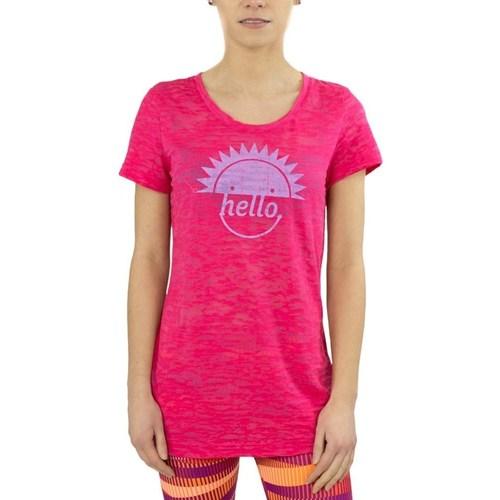 Clothing Women short-sleeved t-shirts Reebok Sport RH Burnout Tshirt Pink