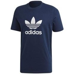 Clothing Men Short-sleeved t-shirts adidas Originals Trefoil Navy blue