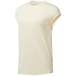 Clothing Women short-sleeved t-shirts Reebok Sport EL Marble Tee Beige