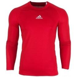 Clothing Men Long sleeved tee-shirts adidas Originals Alphaskin LS Red
