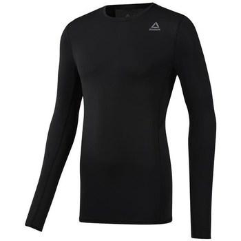 Clothing Men Long sleeved tee-shirts Reebok Sport Wor Compression Black