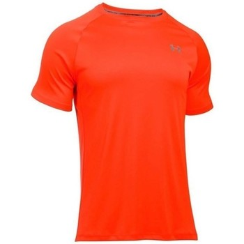 Clothing Men short-sleeved t-shirts Under Armour Heatgear Run SS Tee Orange