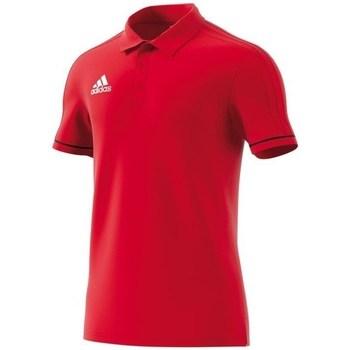 Clothing Men short-sleeved polo shirts adidas Originals Polo Tiro 17 Red