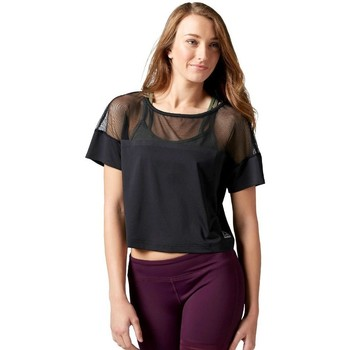 Clothing Women Tops / Blouses Reebok Sport Cardio Fashion Top Black