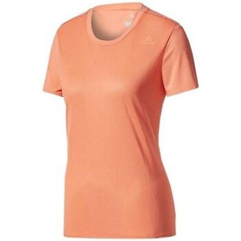 Clothing Women Short-sleeved t-shirts adidas Originals SN SS Tee W Orange