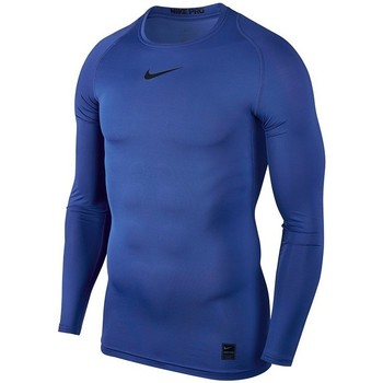Clothing Men Long sleeved tee-shirts Nike Pro Top Compression LS Blue