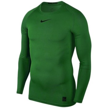 Clothing Men Long sleeved tee-shirts Nike Pro Top Compression Green