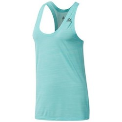 Clothing Women Tops / Sleeveless T-shirts Reebok Sport Wor AC Tank Turquoise