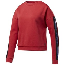 Clothing Women Sweaters Reebok Sport Linear Logo Crew Red