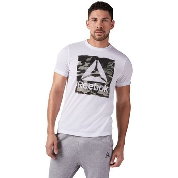 Clothing Men Short-sleeved t-shirts Reebok Sport Camo Delta Speedwic White