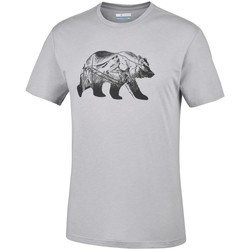 Clothing Men Short-sleeved t-shirts Columbia Baker Brook Grey