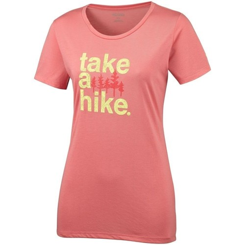 Clothing Women short-sleeved t-shirts Columbia Outdoor Elements Iii Pink