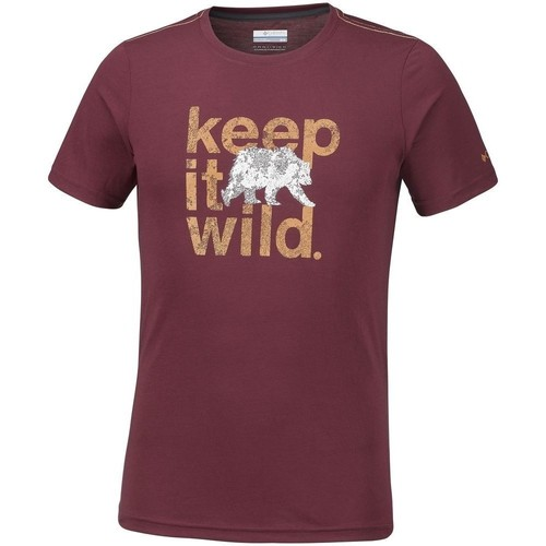 Clothing Men Short-sleeved t-shirts Columbia Miller Valley Burgundy