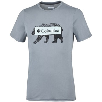 Clothing Men Short-sleeved t-shirts Columbia Box Logo Bear Grey