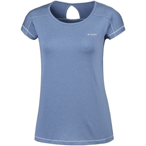 Clothing Women Short-sleeved t-shirts Columbia Peak TO Point Blue