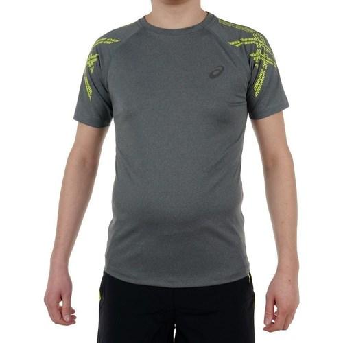 Clothing Men Short-sleeved t-shirts Asics Stripe SS Top Grey