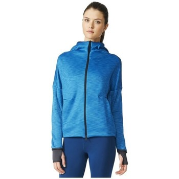 Clothing Women sweaters adidas Originals Zne Heat Hoody Blue