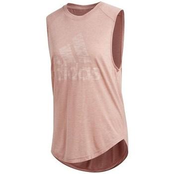 Clothing Women Tops / Sleeveless T-shirts adidas Originals Winners Muscle Pink