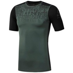 Clothing Men Short-sleeved t-shirts Reebok Sport Activchill Graphic Compression Grey
