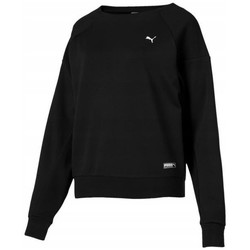 Clothing Women Sweaters Puma Fusion Crew Black