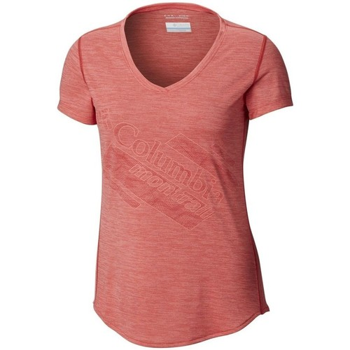 Clothing Women Short-sleeved t-shirts Columbia Trinity Trail 20 Pink