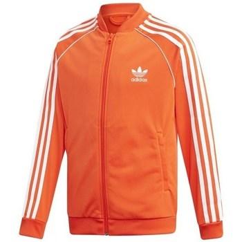 Clothing Children Track tops adidas Originals Sst Track Jacket White, Orange